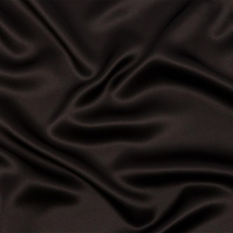 Deep Charcoal Silk Charmeuse