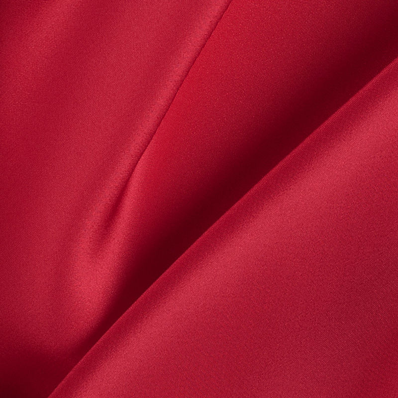 Red Silk Crepe de Chine - Detail