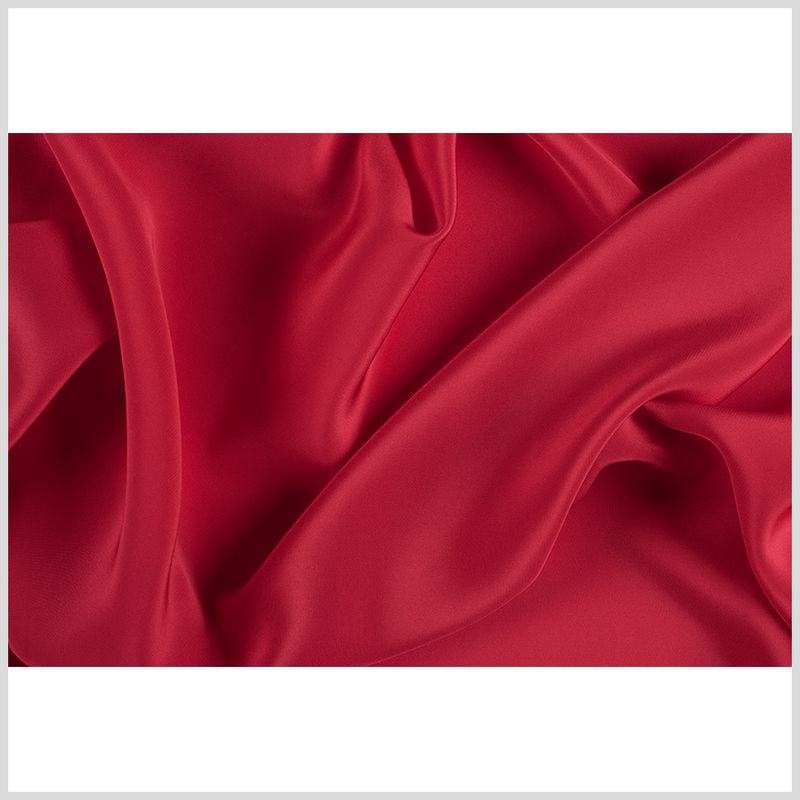 Red Silk Crepe de Chine - Full