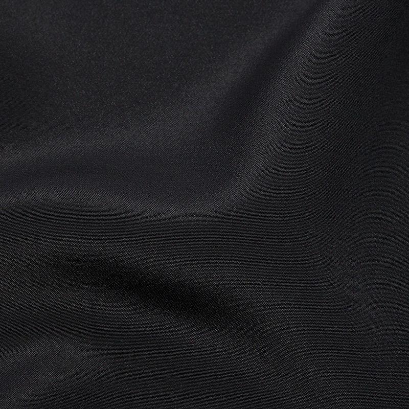 Black Silk Crepe de Chine - Detail