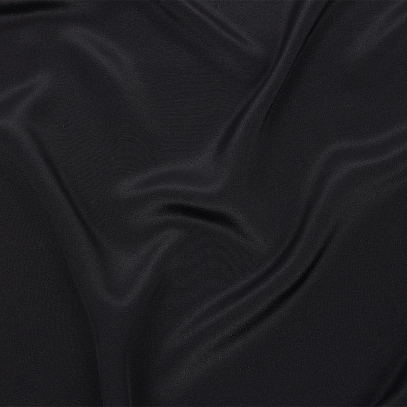 Black Silk Crepe de Chine