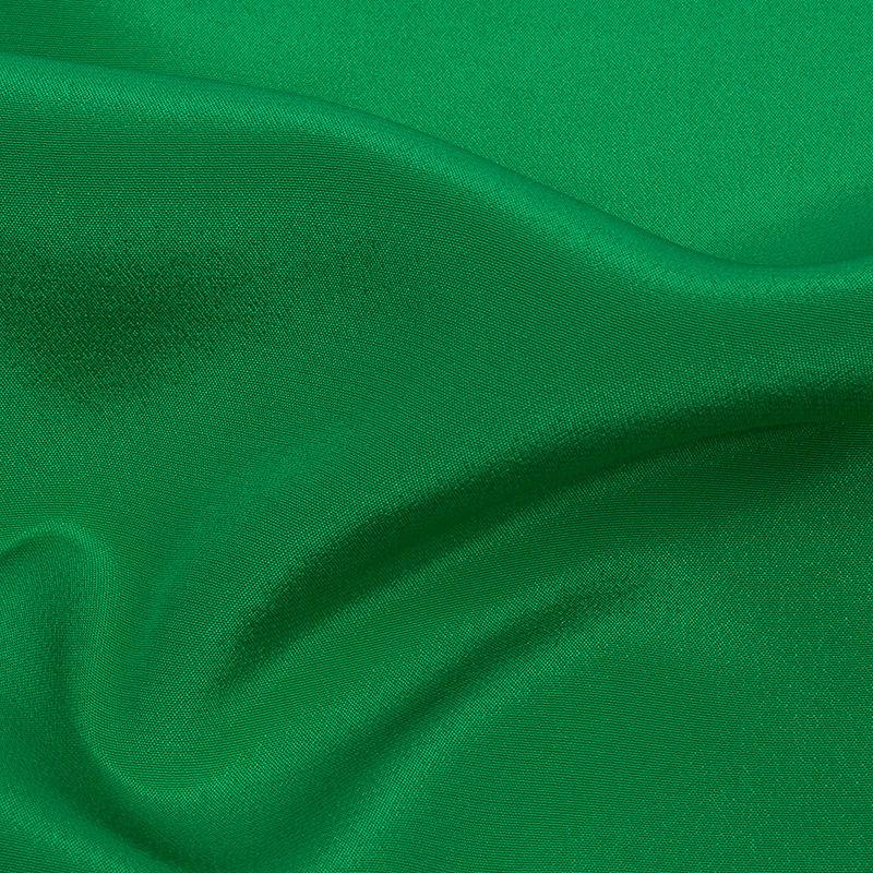 Kelly Green Silk Crepe de Chine - Detail