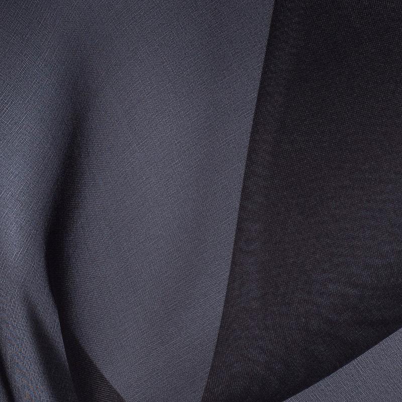 Deep Charcoal Silk Organza - Detail